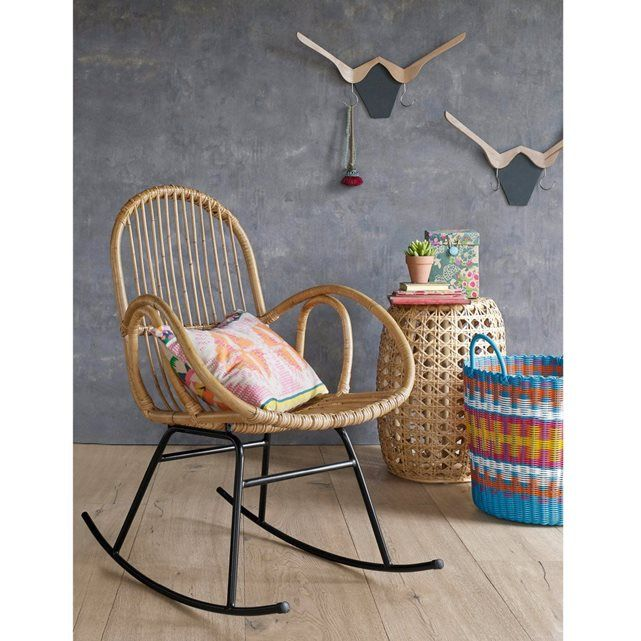 SIONA Vintage Rattan Rocking Chair