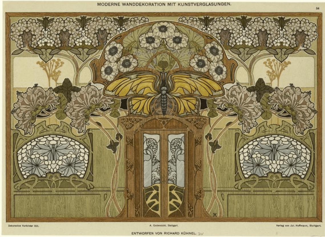 The new art deco art nouveau modern style the interior - Modern art nouveau architecture ...