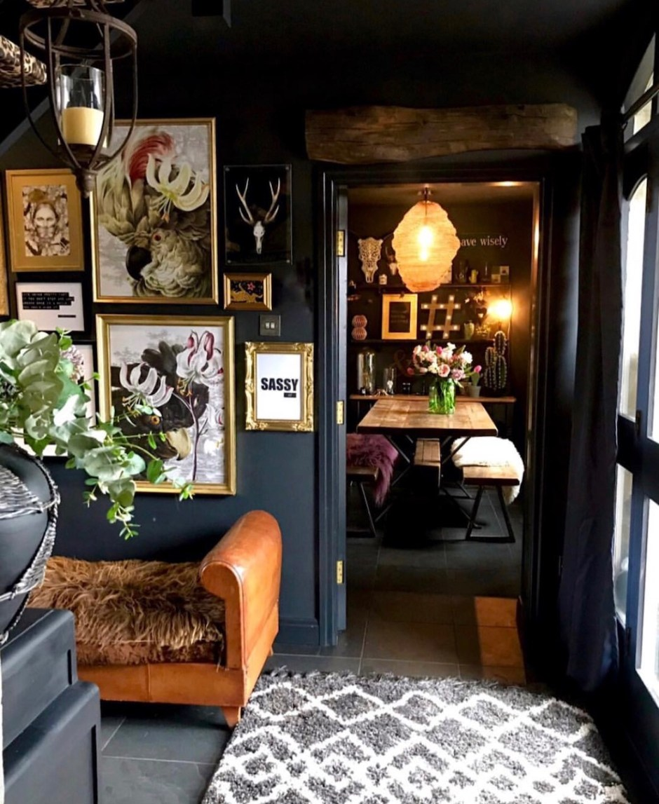Eclectic, Dark & Glamorous Home Tour - Sally Worts