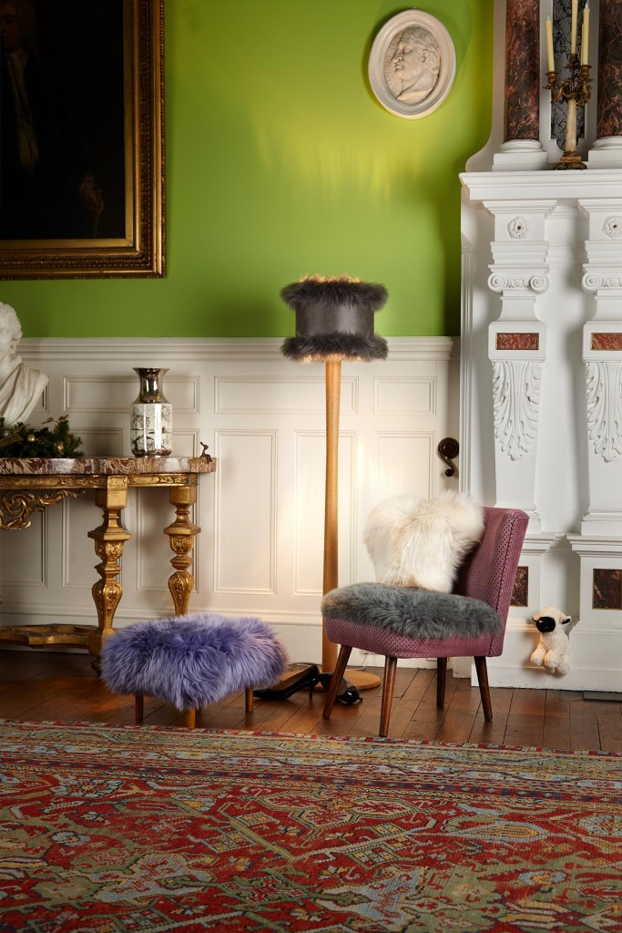 Baa Stool - Handmade Sustainable Sheepskin Designs | Baa Stool offer luxury sheepskin footstools with a removable washable sheepskin cover and using sustainable hardwood. They also offer a range of sheepskin accessories for your homes.