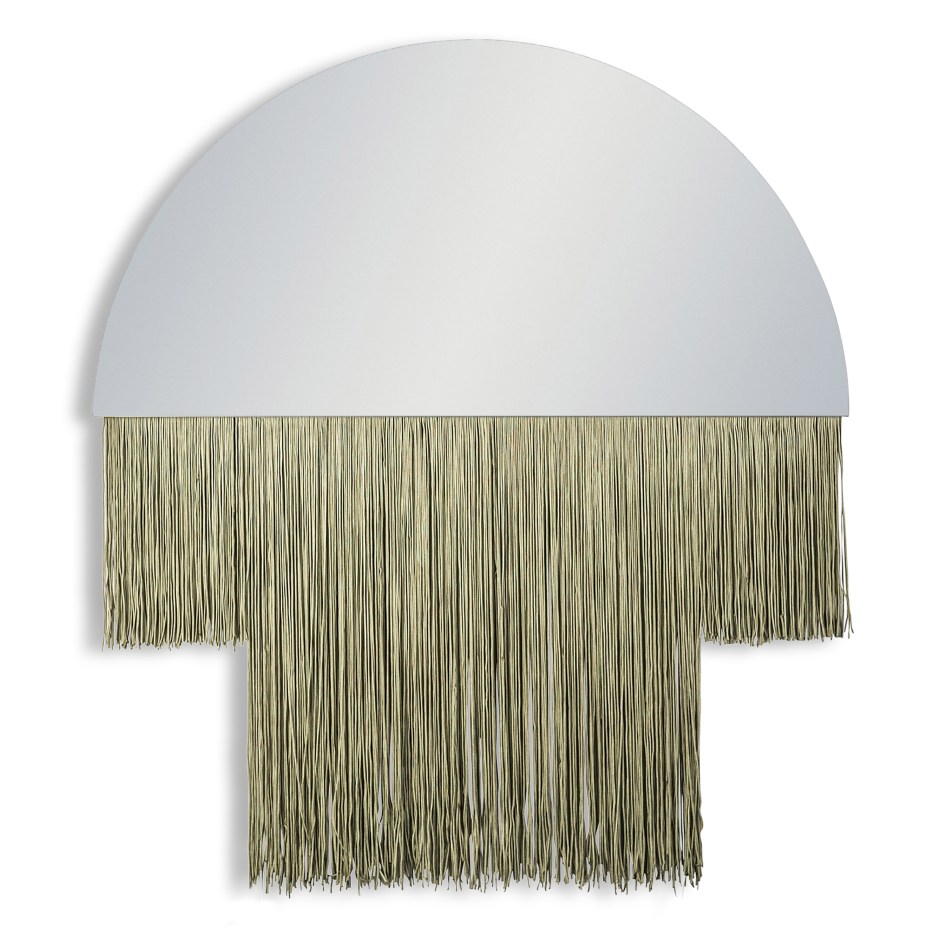 The Fringe Trend For Your Homes | Demi Lune Mirror with Fringing from Audenza offers your walls a decorative form that adds character and personality.
