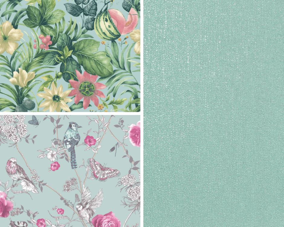 How To Use Neo Mint - The Colour of 2020 Selection of Neo Mint wallpaper inspired designs for your home decor.