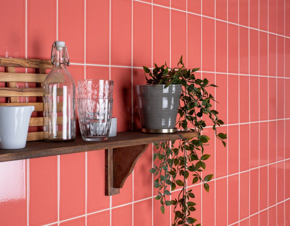 The Versatile Brick Tile & How To Use It | Stacking your tiles is great for creating the illusion of height as the eye is drawn upwards rather than horizontally.  Perfect for areas where the ceiling height is lower than normal. Opt for on tend living coral tiles to add an up to date contemporary look to your homes.