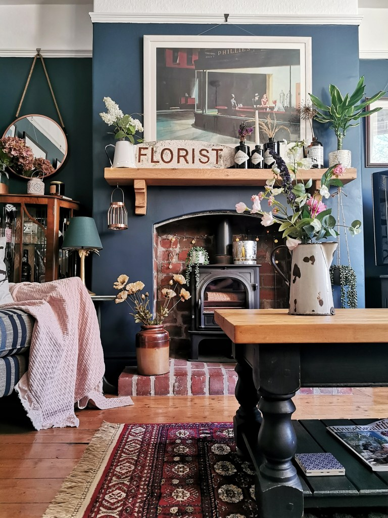 The Rustic Modern & Eclectic Home of Furniture Upcycler - Gareth Young - living room decor
