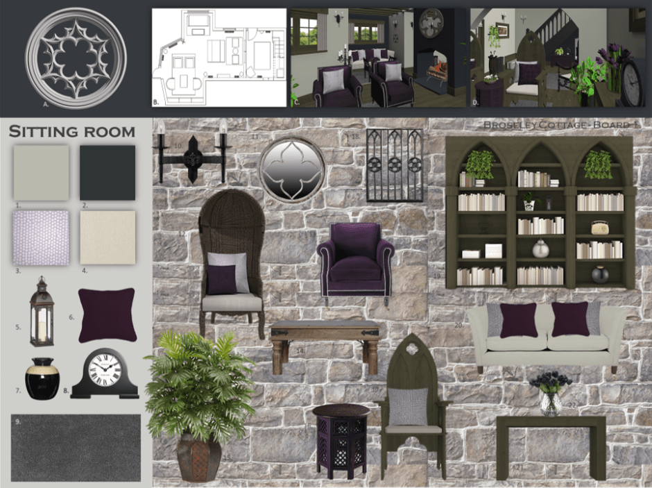 Wentworth Heritage - Design Solutions For Historic Properties - A Multi-Service Heritage Business - Mood board for listed building