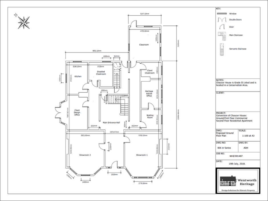 Wentworth Heritage - Design Solutions For Historic Properties - A Multi-Service Heritage Business - Floor plan for listed property