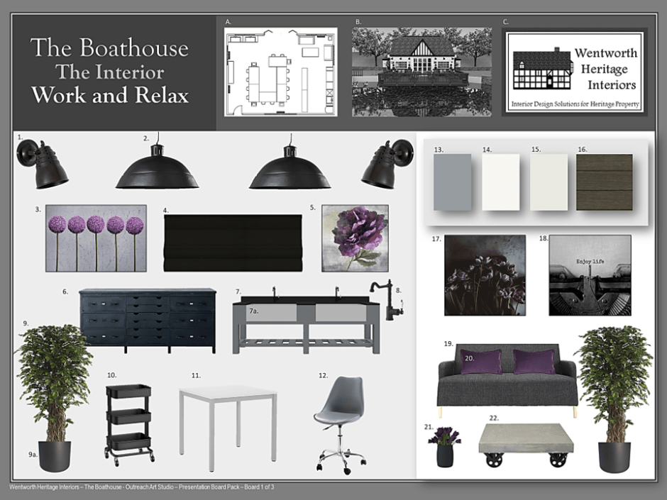 Wentworth Heritage - Design Solutions For Historic Properties - A Multi-Service Heritage Business - Mood board for listed boathouse