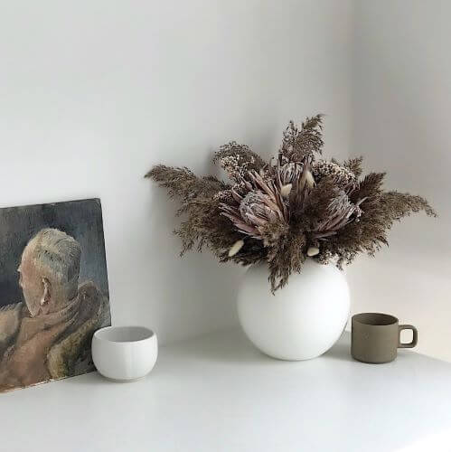 Shida Preserved Flowers Sustainable Longlasting Home Decor   bouquet of preserved flowers using banks protea and eucalpytus