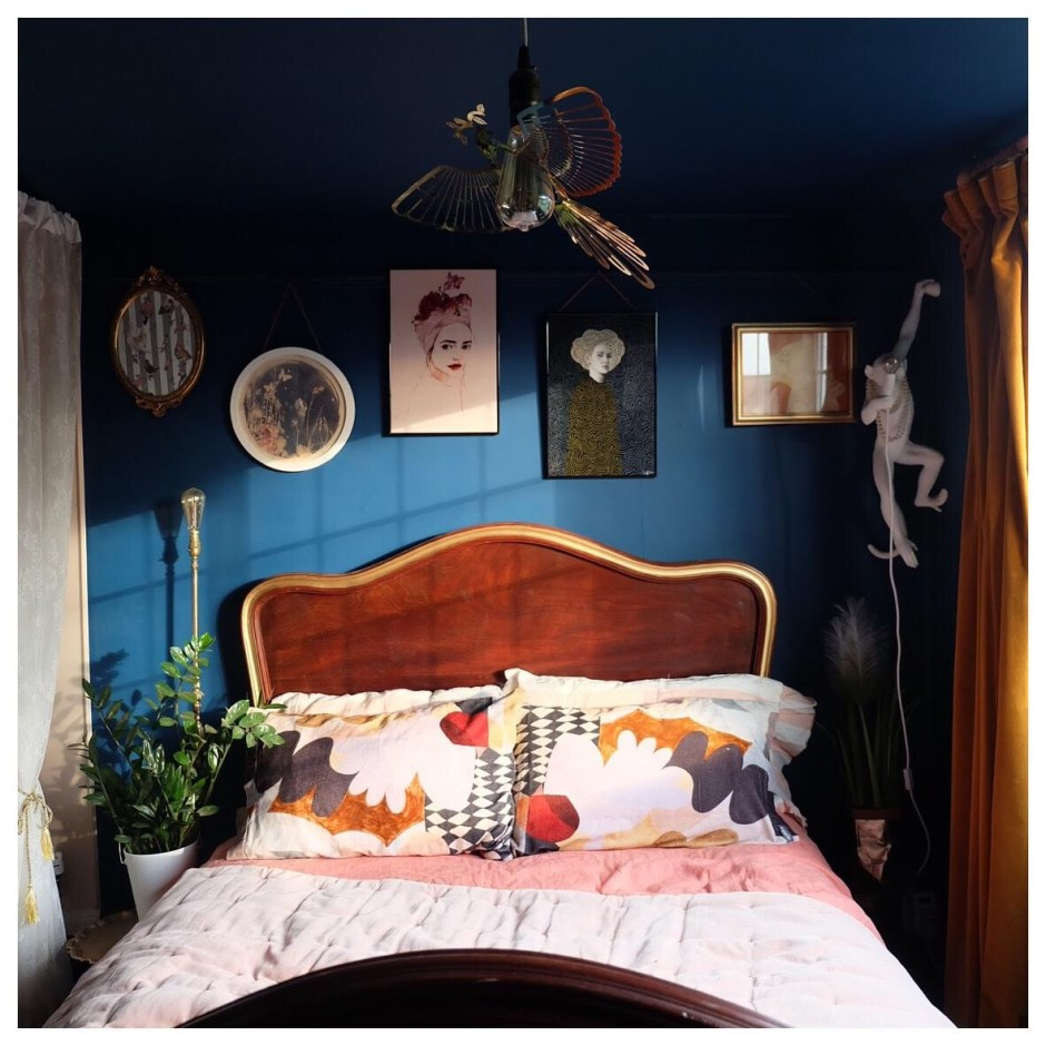 The Creative Eclectic Home of Gold Leaf Queen - Lara Bezzina - eclectic bedroom