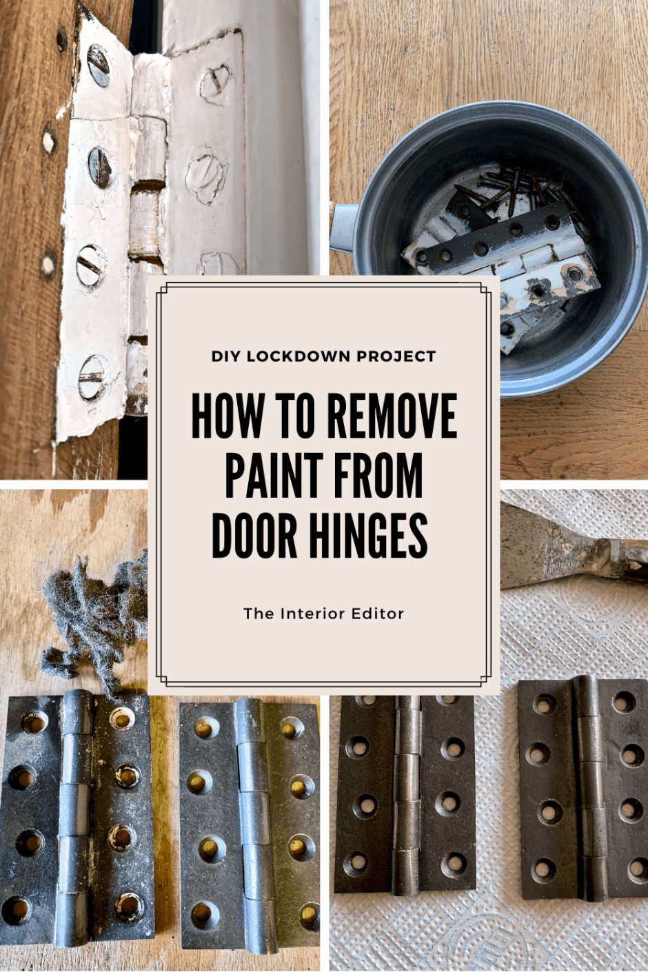 How To Remove Paint From Hinges - Naturally - An easy way to remove paint from hardware, hinges and screws without chemicals