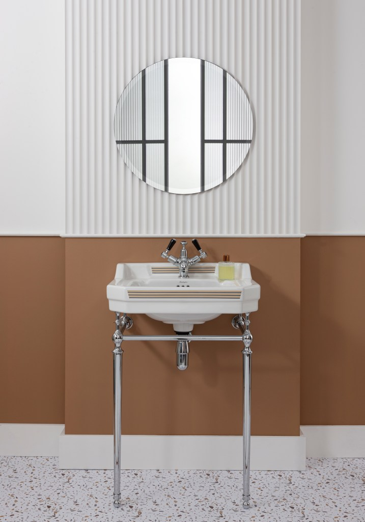 Unique Bespoke Traditional Bathroom Sanitary Ware by Burlington - Vienna Art Deco Wash basin and stand