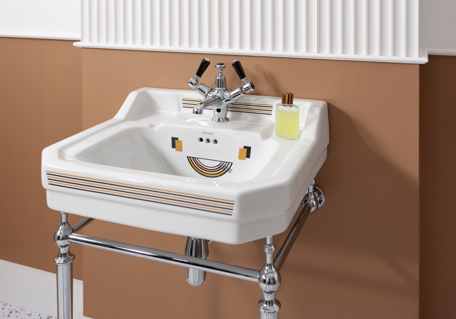 Unique Bespoke Traditional Bathroom Sanitary Ware by Burlington - Vienna Art Deco washbasin and stand