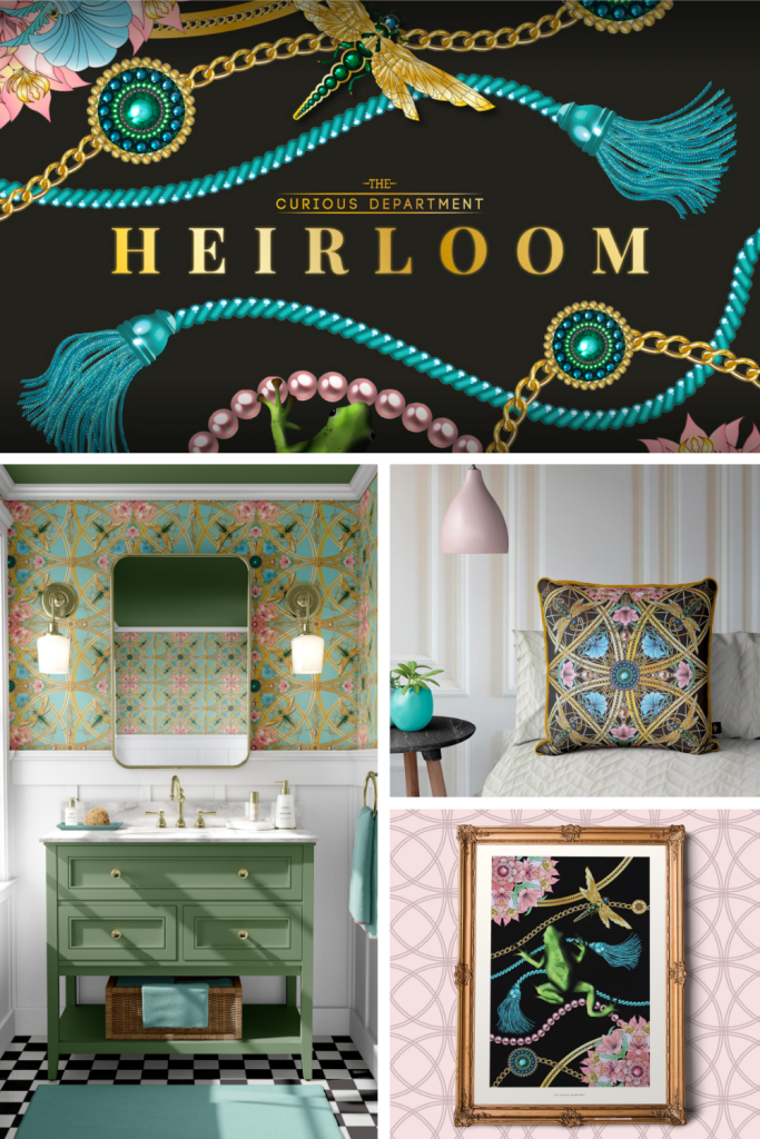 Heirloom Collection - Jewellery For The Home - The Curious Department - luxury wallpaper, cushions and limited edition art prints.