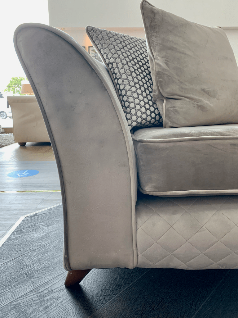 Shimmer sofa has quilted panels and contrasting metallic trim - The Best Choice of Sofas & Sofology's Autumn 2020 Collections