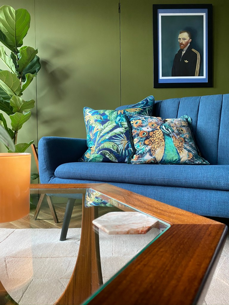 Colour & Pattern Filled Eclectic Home - Saara McLoughlin | Mid Century influences and bold decor and fun art