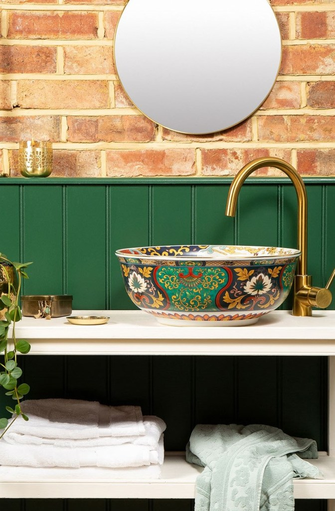 EVELYN Stunning Handmade Chinois Countertop Wash Basin Sink - The Way We Live London