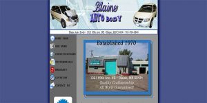Web Design Blaine Auto Body