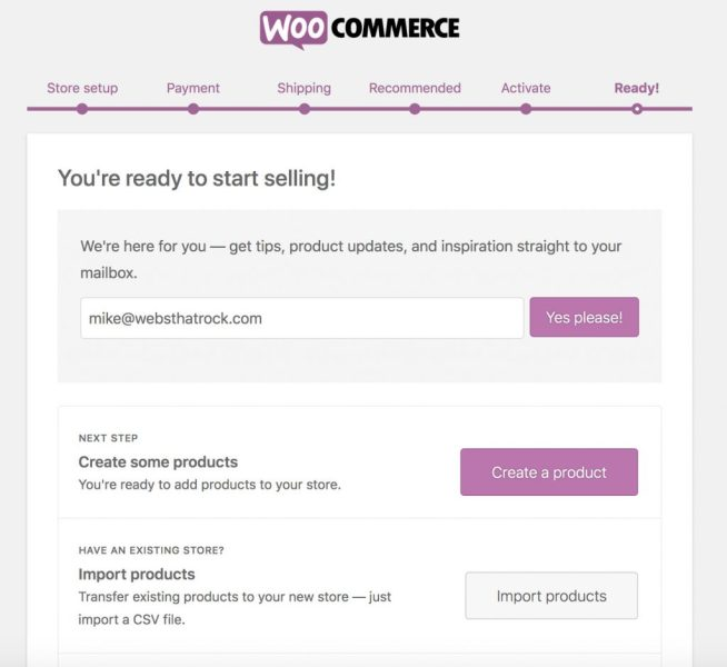 2019 WooCommerce is ready