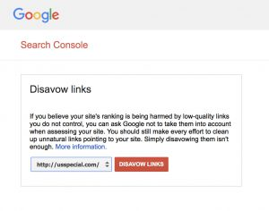 Google Disavow Tool