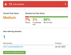 Toxic Backlinks Report