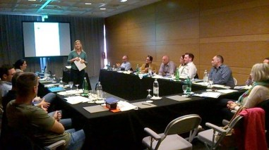 Sian Rees, Health & Safety Manager Intercruises, presents at the workshop