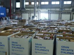Boxes filled with food for those in need