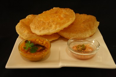 Try some of the scintillating street food. Pictured here Dal Puri