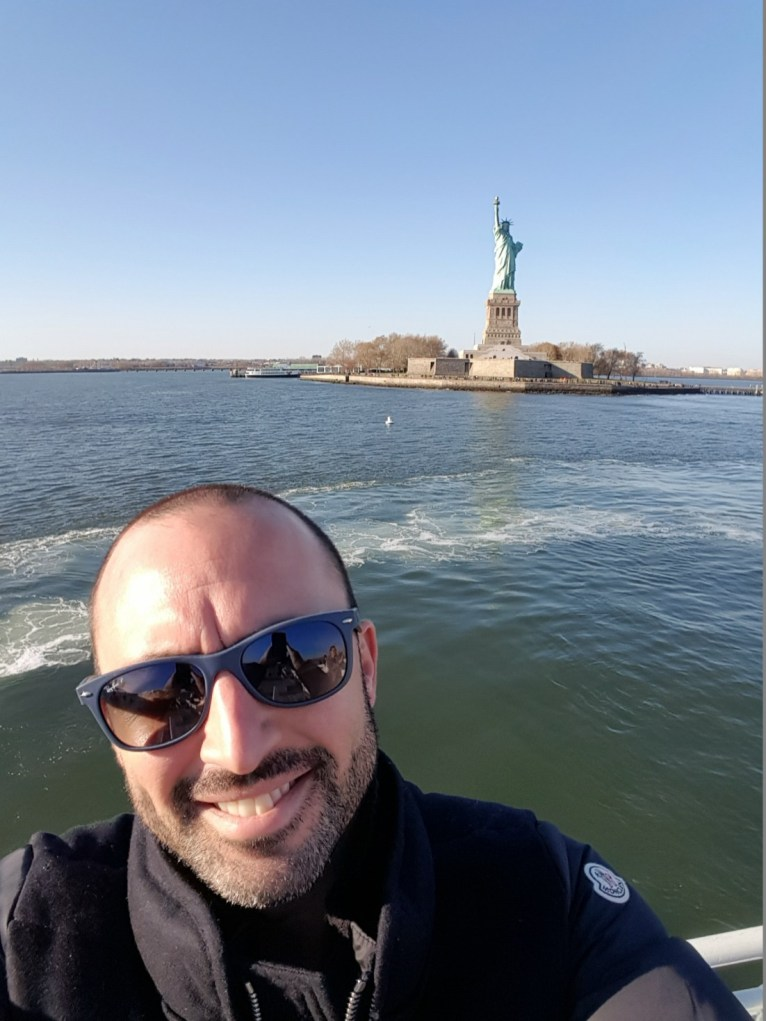 Mario at Statue of Liberty