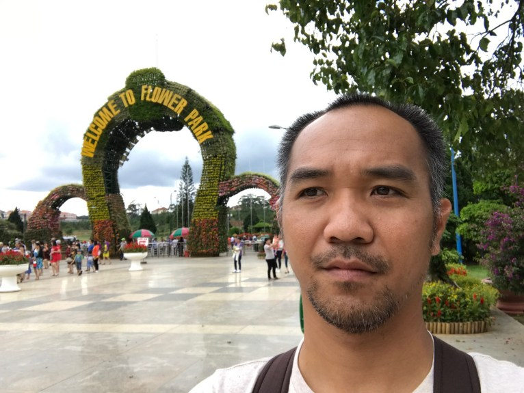 Khoi, at Flower Park in Dalat city