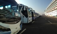 Coaches lined up ready in Colombo