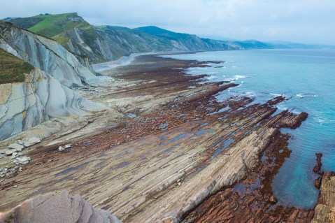 Otherworldly Flysch Cliffs, Spain