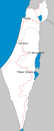 Israel national trail map