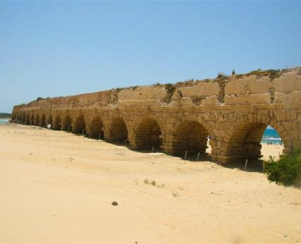 The aqueduct in Caesarea​