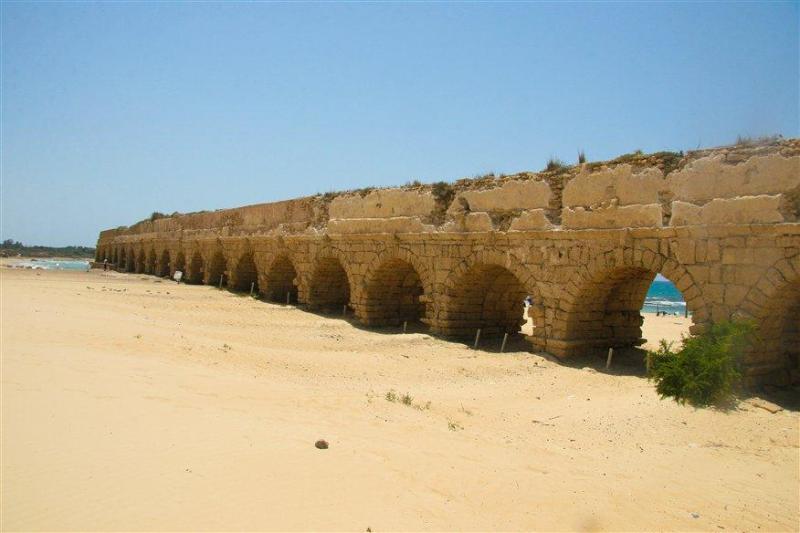The aqueduct in Caesarea