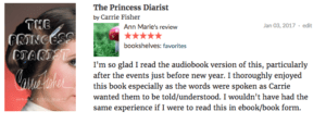 My book review of the Princess Diarist