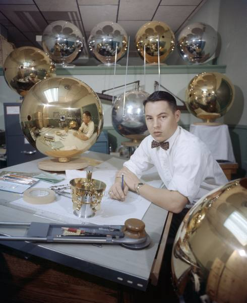Scientist with Earth'S Satellite - 1957