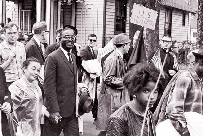 John Hope Franklin protesting in style!