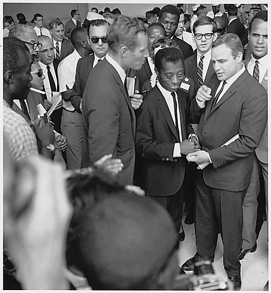 civilHeston_Baldwin_Brando_Civil_Rights_March_1963