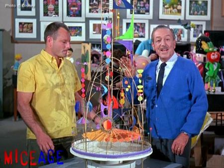 "Crump and Disney with a model of ""The Tower of the 4 Winds"""