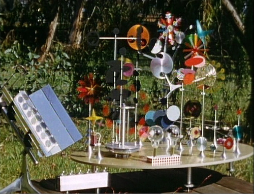 The solar powered toy designed by Charles and Ray Eames