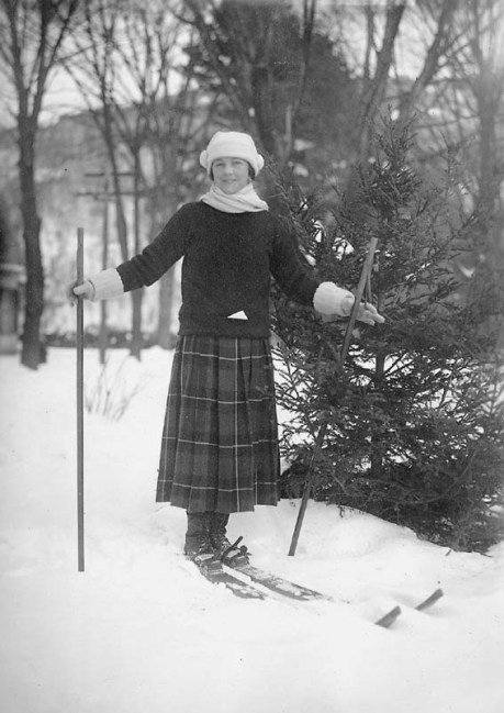 Vintage Skiers Hitting The Slopes In Style The