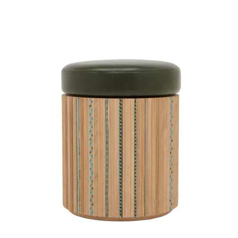The Invisible Collection Funquetry Pleated Stool by Nada Debs