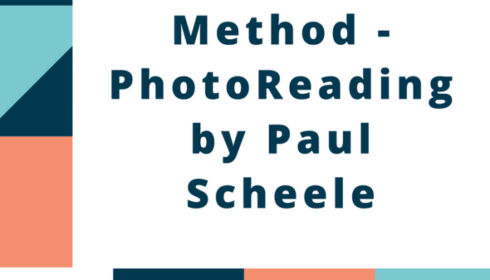 Speed Reading Method – PhotoReading by Paul Scheele