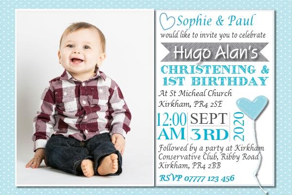 boy s joint christening birthday