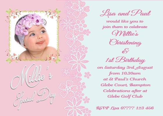 girls joint christening birthday