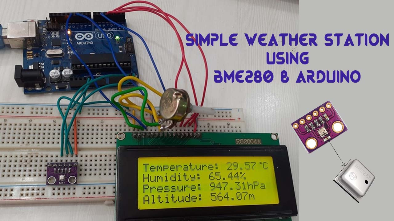 Simple Weather Station Using BME280 and Arduino
