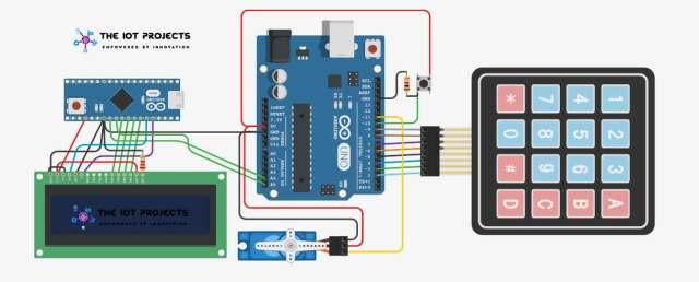 Password-based door lock security system using Arduino and keypad