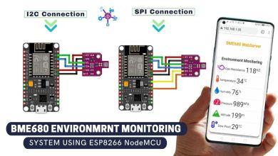 BME680 Environment Monitoring System using ESP8266