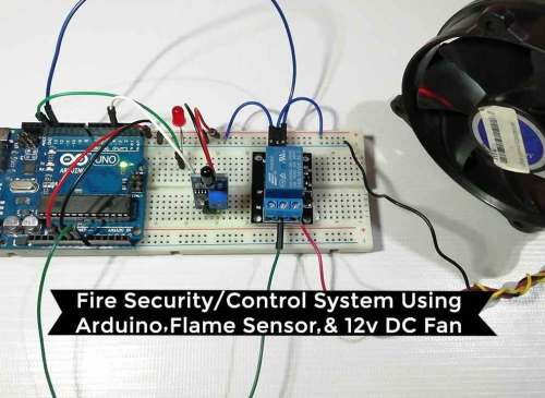 Fire Security System using Arduino & Flame Sensor