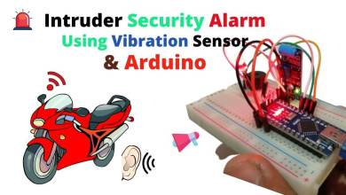 Arduino Intruder Security Alert System using Vibration Sensor